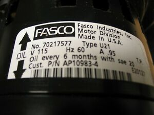 Fasco Inducer Blower For Water Heater