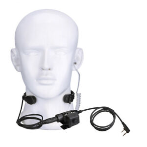 Airsoft Tactical Headset Throat Mic PTT for RT27V RT81 Baofeng UV5R 888S Kenwood $23.39