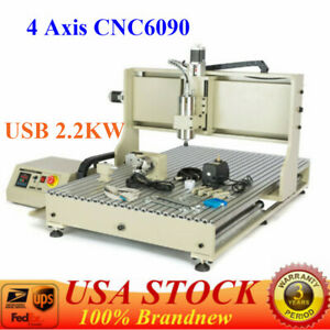 4 Axis Cnc 6090 Engraver Usb 2 2kw Engraving Milling Machine 3d Drilling Router