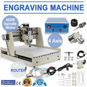 Z 4axis Cnc Router 6040 Engraver Pcb Metal Wood Cutting Mill Drill Machine 400w