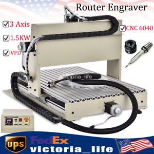3 Axis Router Engraver Cnc 6040 1 5kw Vfd Desktop Engraving Milling Machine