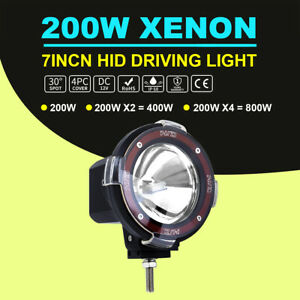 7 200w Hid Off Road Light 4x4 Rally Round Fog Light Lamp Driving Light 6000k