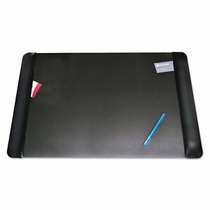 Artistic Executive Desk Pad With Leather like Side Panels 36 X 20 Black 413861