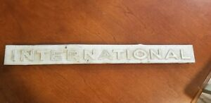 International Harvester T340 Crawler Aluminum Side Emblem Ih Tractor Farmall