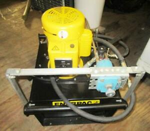 Enerpac Electric Hydraulic Pump With Manual 3 Way 10000 Psi Ze4340mb