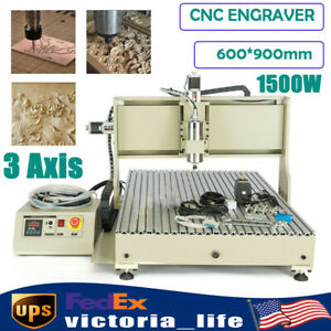 3 Axis 6090 Cnc Router Engraving Machine 1500w Usb For Woodworking Advertising