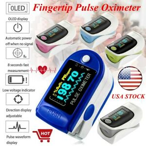Finger Pulse Oximeter Blood Oxygen Saturation Heart Rate Monitor Usa Fast Ship