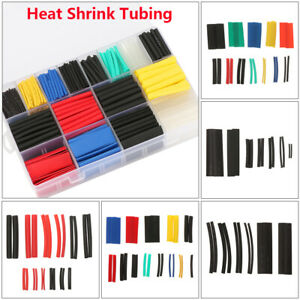 Test Equipment Heat Shrink Tubing Cable Sleeve Kit Assorted 2 1 Wire Wrap Sets