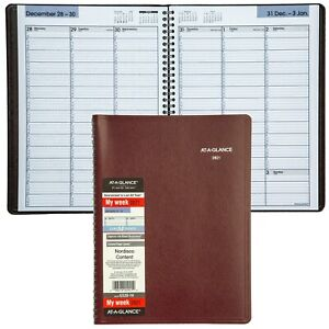 2021 At a glance Dayminder G520 14 Weekly Appt Book 8x11 Burgundy Cover