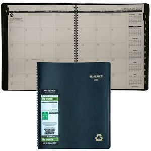 2021 At a glance 70 260g 05 Monthly Planner 8 7 8 X 11 Black Cover