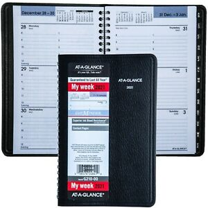 2021 At a glance Dayminder G210 00 Weekly Appointment Book With Tele Address Sec