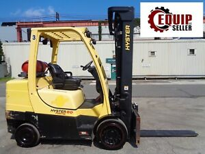 2012 Hyster S80ft 8000lbs Forklift Boom Truck Triple Mast Side Shift Propane