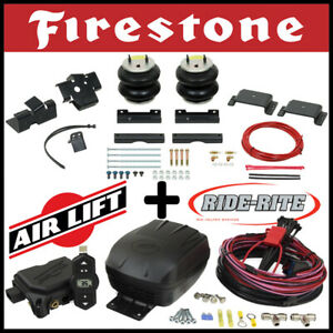 Firestone Ride Rite Bags Airlift Compressor Kit For 14 20 Ram 2500 4wd W coil Sp