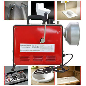 3 4 6 110v Pipe Drain Cleaner Electric Spiral Drain Cleaning Machine Sewer Us