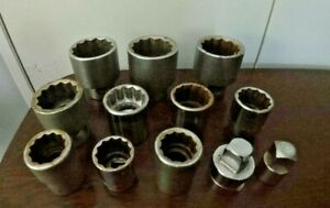 12 Pieces Mixed Lot 1 Drive Sockets And Adapters Williams Armstrong