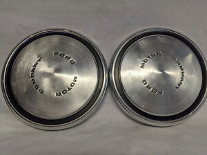 2 ford Motor Company Dog Dish Poverty Hubcap Hub Cap Wheel Cover 10 1 2 Vintage