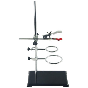 Laboratory Grade Metalware Set With Support Stand 8 3 x5 5 2 Retort Rings