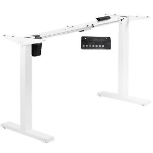 Used Vivo White Electric Single Motor Stand Up Height Adjustable Desk Frame