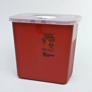 Sharps Disposable Biohazard Container 2 Gallon Red 8970