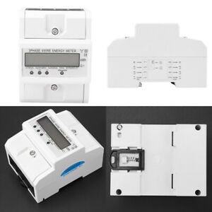 Electronic Kwh Meter Digital Lcd 3 X 20 80a Three Phase Four Wire Din rail Kwh