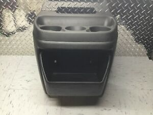 03 18 Chevrolet Express Gmc Cargo Van Black Center Cup Holder Console 854