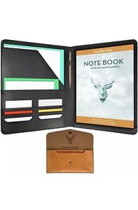 Wundermax Executive Padfolio Portfolio Leather Folder Business Resume Notebook