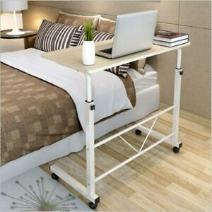 Laptop Desk Rolling Adjustable Portable Table Cart Computer Mobile Stand New Usa