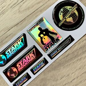 Holographic Chrome Iron Man Stark Industries Tony 3d Domed Emblem Decal Stickers