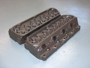World Products Ford Mustang Windsor 302 351w Ported Cast Iron Cylinder Head Pair
