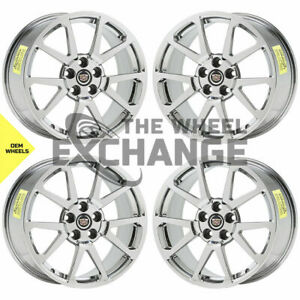 19x9 19x10 Cadillac Cts V Pvd Chrome Wheels Factory Oem Gm 4647 4677 Exchange