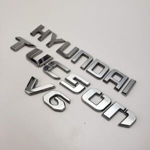 2005 2009 Hyundai Tucson V6 Rear Chrome Emblem Logo Badge Letters