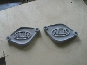 Miller Hot Rod Flathead Ford Blanking Plates used For 37 Block With Early Heads