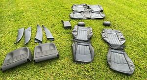 W211 Mercedes Amg E55 E64 Rear Seats Front Seats Leather Skin Blue