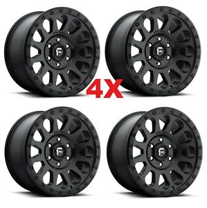 18 Black Wheels Rims Fuel Vector Off Road