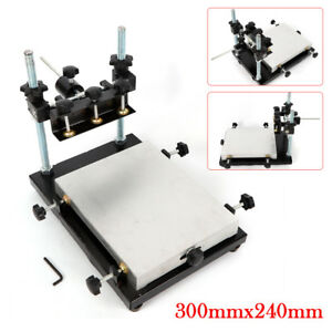 Pcb Smt Stencil Printer Manual Press Printer Solder Paste Printer 300x240mm