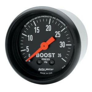 Auto Meter 2616 Z Series 2 1 16 Turbo Blower Boost Gauge