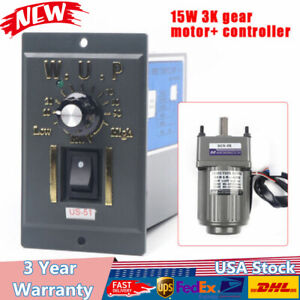 110v 15w 3k Ac Gear Motor Electric variable Speed Reduction Controller 0 450rpm