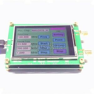 23 5 6000m Rf Signal Generator 0 5ppm Low Noise Frequency Sweep Touch Screen Pc