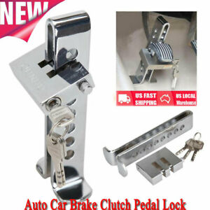 Security Brake Clutch Lock Anti Theft Pedal Lock Car Stainless Steel Security
