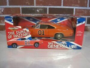 DUKES OF HAZZARD 1969 CHARGER GENERAL LEE DIE CAST METAL NEW IN BOX $430.00