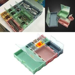9pcs set Smd Container Smt Ic Electronic Component Mini Storage Box Jewelry Case