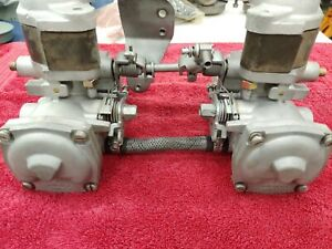 Su Twin Carburetors W Intake Manifold 1970s Mgb Ultrasonically Cleaned Set 4