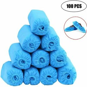 100 Pcs 50 Pairs Shoe Covers Disposable Anti Skid Non Woven Fabric