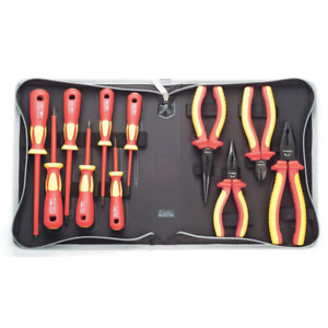 Home Electrical Tools 11 piece 1 000 volt Insulated Screwdriver Plier Tool Set