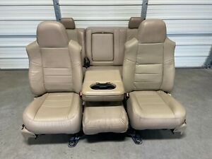 1999 2010 Ford F250 F350 F450 Super Duty Front Rear Seats Tan Leather
