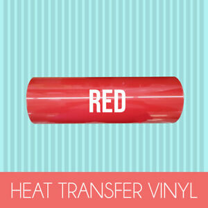 Heat Transfer Vinyl Roll Pu Lettering Film Iron On Textile Red 12 x5 ft Htv