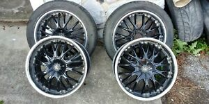 18 Inch Universal Rims Black Good Shape Came Off Dodge 5 Lug
