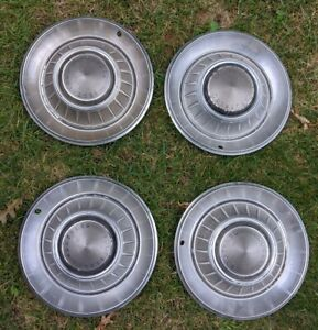 Vintage Set Of 4 1960 S 1970 S Chrysler 14 Hubcaps Dodge Mopar
