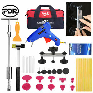 Car Body Damage Paintless Diy Repair Dent Puller T Bar Slide Hammer Pdr Tools Us