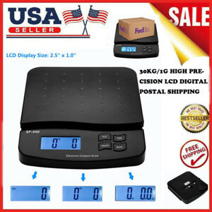 30kg 1g High Precision Lcd Digital Postal Shipping Scale Black With Adapter Us
